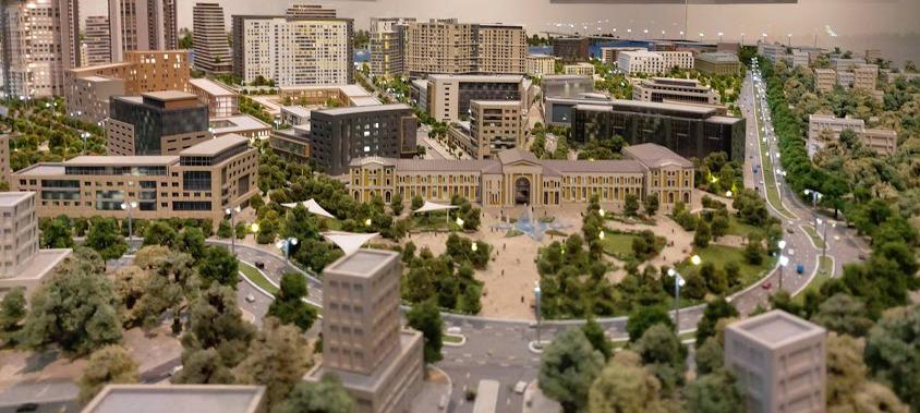Model of the renovated Savski Trg