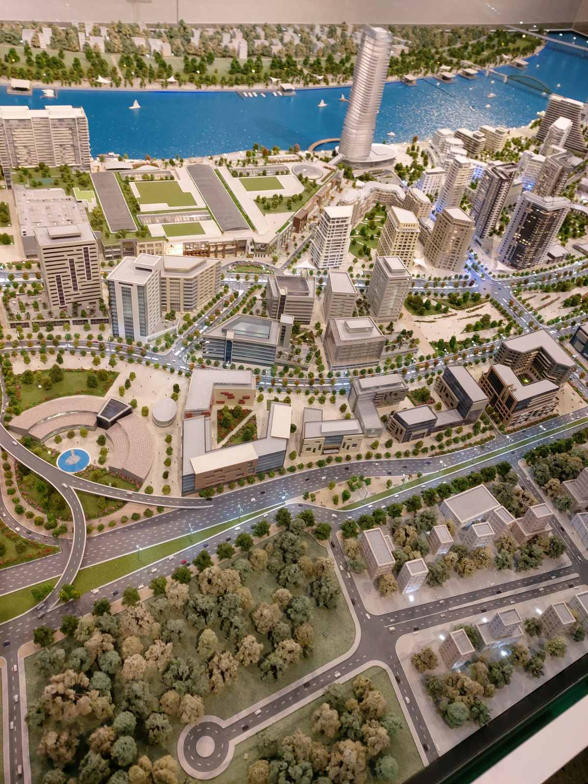 Model of the newly construced Belgrade Waterfront